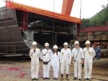 Vroom Vos Keel Laying Ceremony