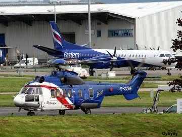 Bristows Helicopters Working With Eastern Airways At Aberdeen Airport