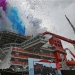 The Launch Party Of the Heerema Aegir