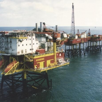 ConocoPhillips Viking Bravo Platform, With The BA Jacket In The Foreground
