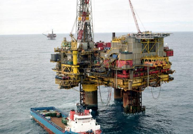 Shell's North Sea Brent Bravo And Supply Ship