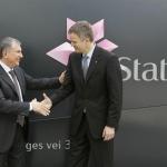 Rosneft President Igor Sechin meets Statoil CEO Helge Lund