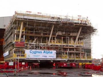 Cygnus Alpha Under Construction At Heerema Fabrication, Hartlepool, UK