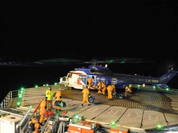 Norwegian Oil Workers Head Home From A Barents Sea Drilling Rig