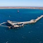 Chevron's LNG Jetty, Barrow Island, Western Australia