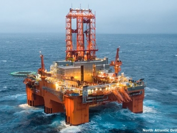 North Atlantic Drilling's West Phoenix Semisubmersible Drilling Rig