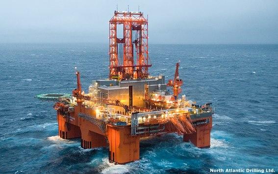 North Atlantic Drilling's West Phoenix Semisubmersible Drilling Rig