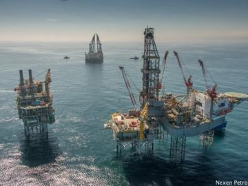 Nexen Petroleum's Golden Eagle Platform During Construction 2014