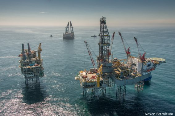 Nexen Petroleum's Golden Eagle Platform During Construction 2014