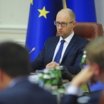 Ukraine Prime Minister Arseniy Yatsenyuk During Cabinet A Meeting