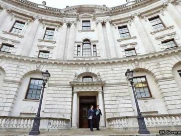 UK Chancellor George Osborne Leaving The UK Treasury