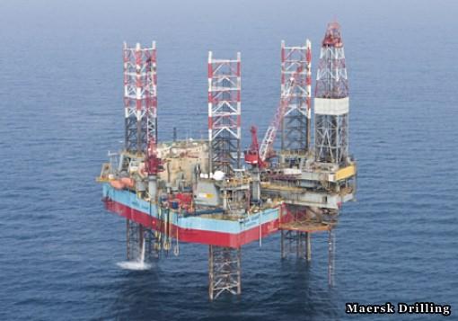 Offshore Jack Up Drilling Rig Maersk Giant