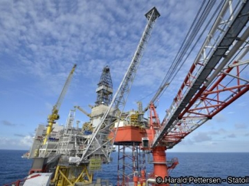 Statoil's North Sea Valemon Platform