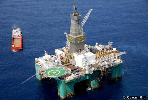Ocean Rig's Eirik Raude Drill Rig Has Been Conducting Much Of The Falklands Exploation Work