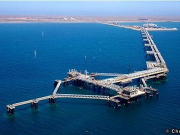 The Gorgon Project's Loading Jetty, Barrow Island, Western Australia