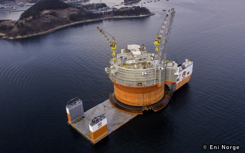 Eni Norge's Goliat FPSO Onboard The Dockwise Vanguard