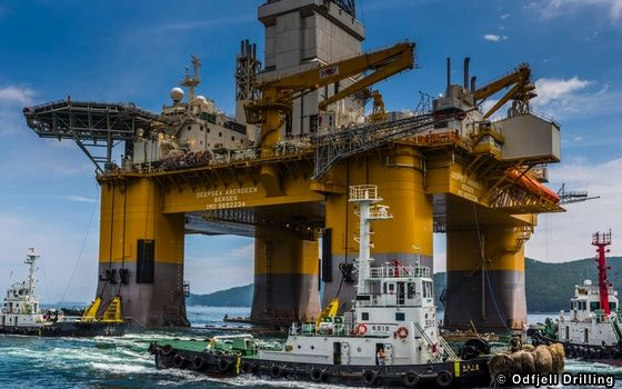 Odfjell Drilling's Deepsea Aberdeen Semi-submersible Rig