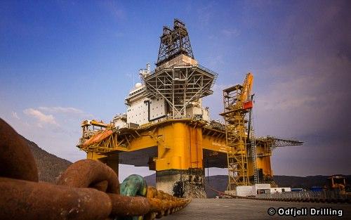 Odfjell Drilling's Deepsea Atlantic Semi-submersible Drilling Rig