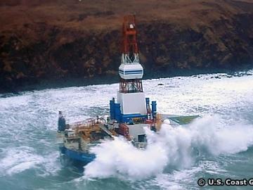 Shell Kulluk Drill Rig Aground Off Alaska