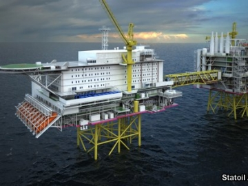 Statoil's North Sea Johan Sverdrup living quarters