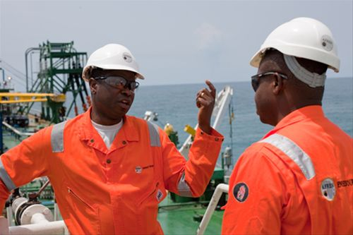 Afren Oil Workers Offshore Africa