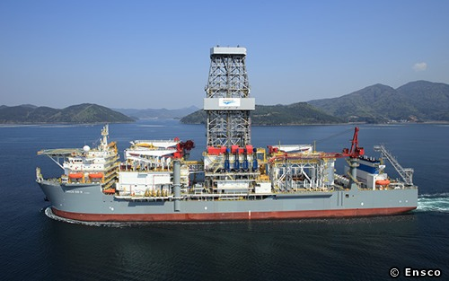 The Ensco DS-9 Drillship