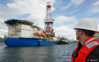 Noble Corporation Noble Discoverer Offshore Drill Ship, Dutch Harbour, Alaska