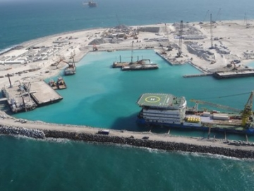 One Of Four Man Made Islands In The Upper Zakum Field, Offshore Abu Dhabi