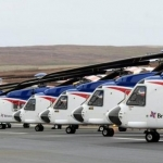 Bristow's Fleet Of S92 Offshore Helicopters At Scatsta Airport,