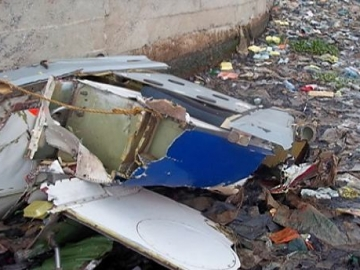 Wreckage Of The S-76 Offshore Helicopter Operated By Bristow, In The Lagos Lagoon Nigeria