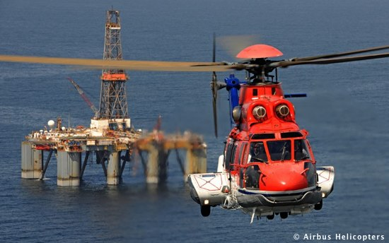 A Eurocopter EC225 Super Pumer Offshore Helicopter