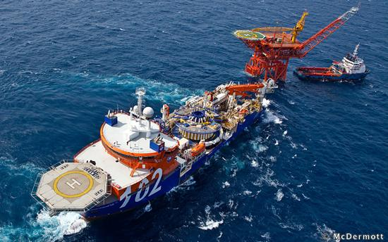McDermott's Offshore Pipe Laying Vessel North Ocean 102