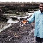 Pastor Christian Lekoya Kpandei, At The Previous Bodo Oil Spill, Nigeria