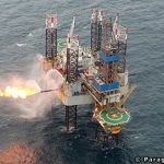 A Paragon Offshore Jack-up Drilling Rig Flaring