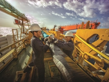 Expro Offshore Workers Readying Subsea Equipment