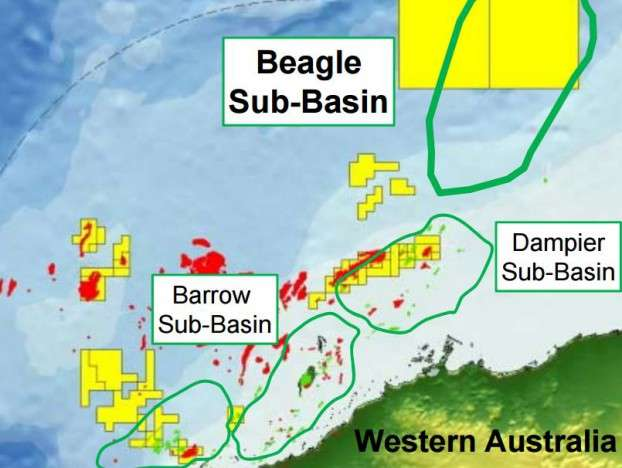 Map Showing BHP Billiton Oil Blocks Offshore Wester Australia