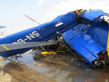 Wreckage Of The Crashed Bristows S-76 Offshore Helicopter, Nigeria