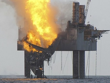 Hercules Offshore Drilling Rig Fire