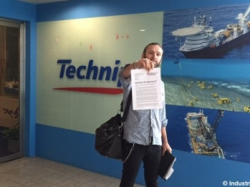 Ommund Stokka From Industri Energi Giving The Boycott Notice To Technip