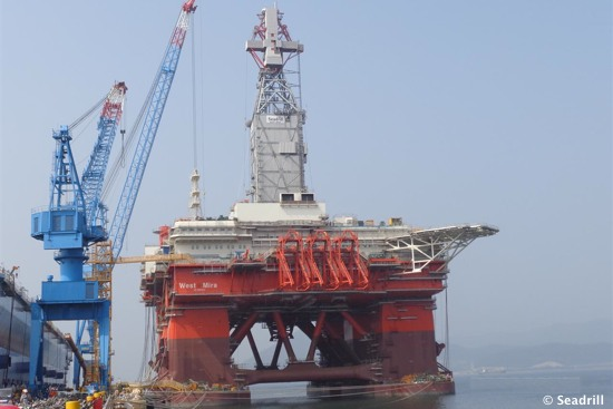 Seadrill's Half Built Offshore Semisubmersible Drilling Rig