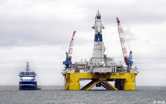 Shell's Offshore Arctic Drilling Rig Polar Pioneer, Alaska