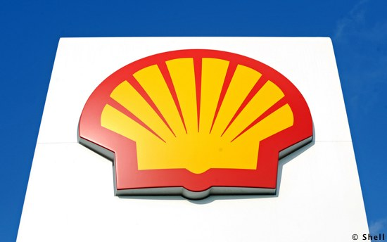 A Royal Dutch Shell Sign