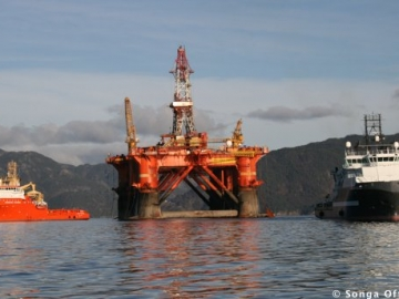 Offshore Drilling Continues For Statoil And Songa. The Songa Delta Offshore Drilling Rig Semisubmersible