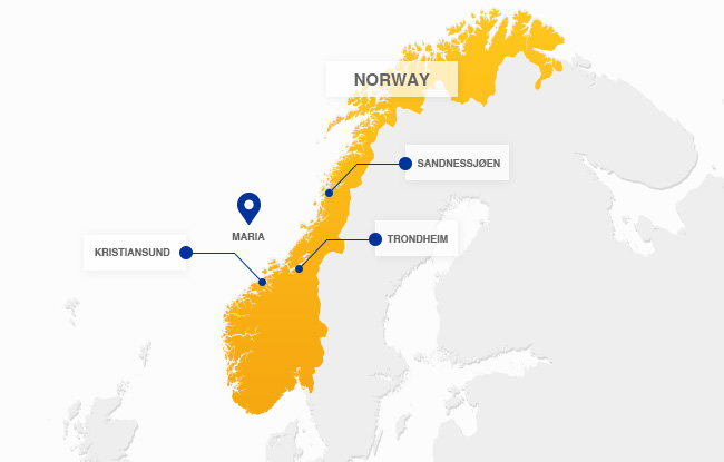 A Map Of The Offshore Oil Field Maria. Offshore Norway, Operated By Wintershall