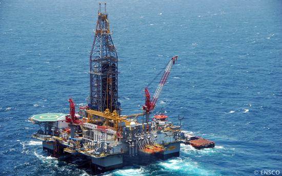 Offshore Semisubmersible Drilling Rig The ENSCO 8503
