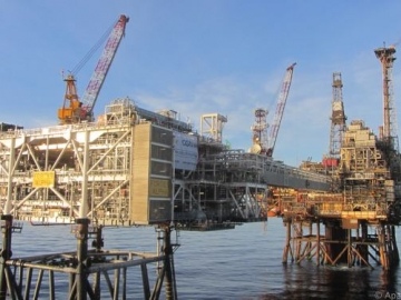 Offshore Forties Alpha Oil Platform, North Sea