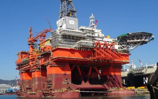 The Bollsta Dolphin Offshore Semisubmersible Drilling Rig At HHI Shipyard