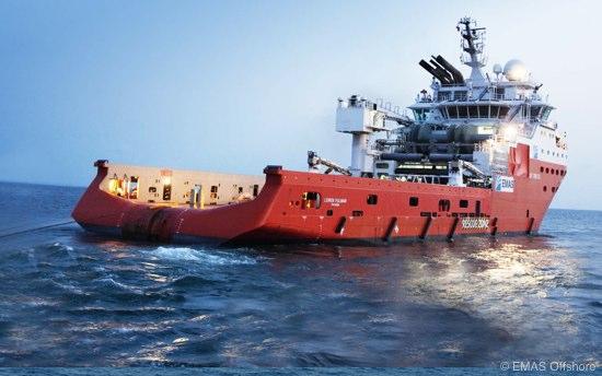 EMAS Offshore AHTS Vessel Lewek Fulmar On Tow