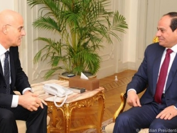 ENI CEO , Claudio Descalzi, Meeting Egyptian President Abdel Fattah Al-Sisi