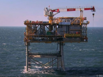 UK Offshore Gas Platform, Clipper South, North Sea